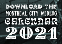 Download the Montreal City Weblog 2021 calendar here